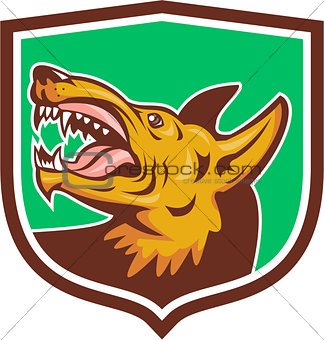 Angry Wild Dog Fangs Side Shield Retro