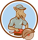 Donkey Concrete Saw Consaw Circle Cartoon