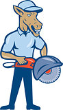 Donkey Concrete Saw Consaw Cartoon