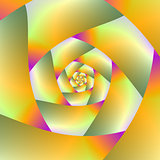 Yellow Orange Pink and Green Spiral