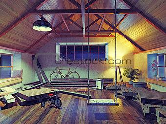 old attic interior