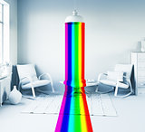Rainbow in the interior
