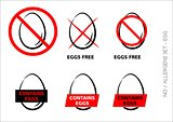 Eggs Free Symbols on white background