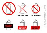 Lactose Free Symbols on white background