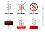Wheat Free Signs isolated on white background