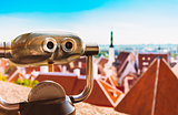 Coin Operated Telescope Binocular For Sightseeing