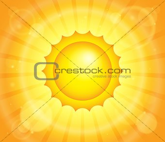 Abstract sun theme image 1