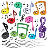 Cartoon music notes theme image 1