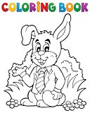 Coloring book Easter rabbit theme 1