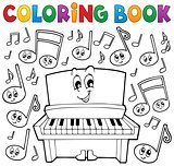 Coloring book music theme image 1