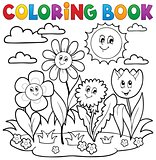Coloring book with flower theme 7