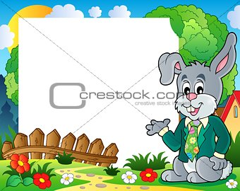 Frame with Easter rabbit theme 1