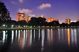 A Lagoon at East Coast Park, Singapore by evening