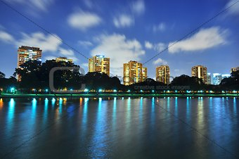 Clouds zooming past a lagoon at East Coast Park