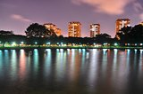 A Lagoon at East Coast Park, Singapore by night