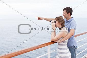 couple cruising