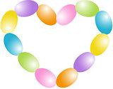 Candy Easter egg  heart shape