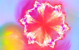 Snowflake that looks like spring flower. Fractal art graphics.