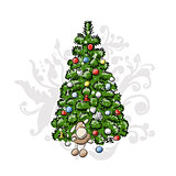 Christmas tree, sketch for your design