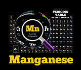 Periodic Table of the element. Manganese, Mn