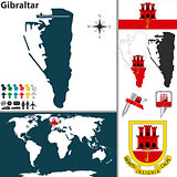 Map of Gibraltar