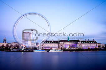 City of London with London Eye