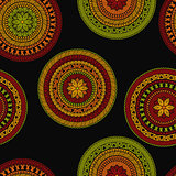 Vector Seamless Pattern with Circles