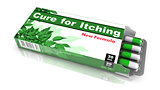 Cure For Itching, Green Open Blister Pack.