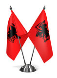 Albania - Miniature Flags.
