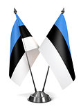 Estonia - Miniature Flags.