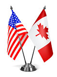USA and Canada - Miniature Flags.