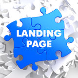 Landing Page on Blue Puzzle.