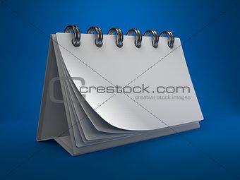 Blank White Desktop Calendar,