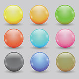 set of colored balls