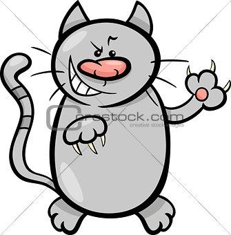 cat claws cartoon illustration