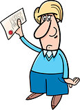 man with document cartoon