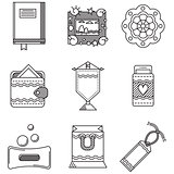 Black line icons vector collection for handmade