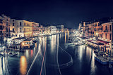 Venice city at night
