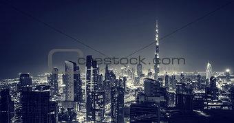 Beautiful Dubai city at night