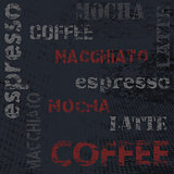 Typographic coffee poster