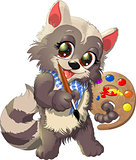 raccoon artist