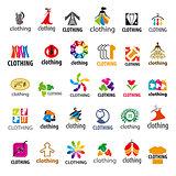 large set of vector logos clothing