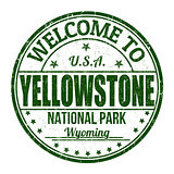Welcome to Yellowstone stamp
