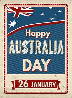 Australia day  retro poster