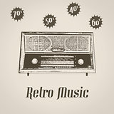 Radio icon poster
