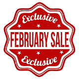 February sale stamp