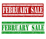 February sale stamps