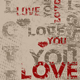 Typographic love poster design