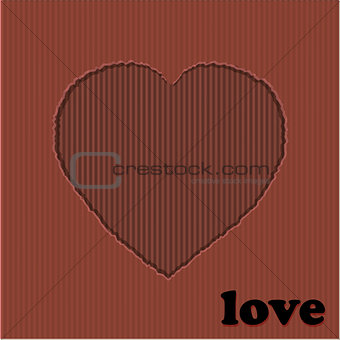 Valentine red heart cardboard cut out
