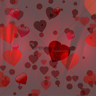 Valentine red hearts background